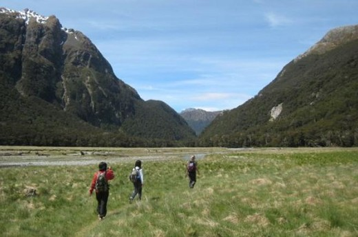 CroppedImage720439 Crossing Routeburn Flats2